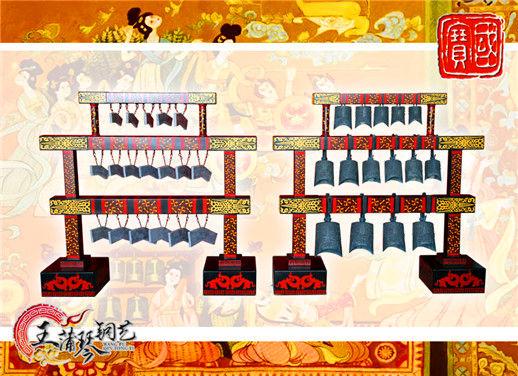 15件3层12博12bet官网及18件3层编磬 汉式婚礼钟磬 礼乐钟磬