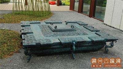 随州青铜古镇客户定制一批文化雕塑安装完成